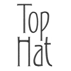 Top Hat embroidery font