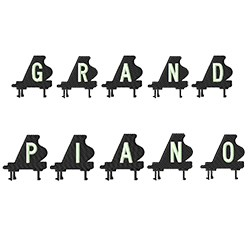 Grand Alphabets Fonts embroidery font