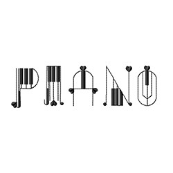 Piano Alphabets Fonts embroidery font