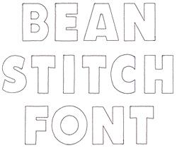 Bean Stitch Applique embroidery font