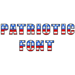 Patrotic font embroidery font