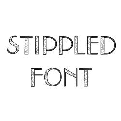 Stippled Alphabet Font embroidery font