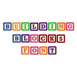 BUILDING BLOCKS FONT embroidery font