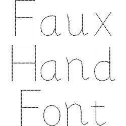Faux Hand Font embroidery font
