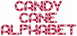 Candy Cane Alphabet embroidery font