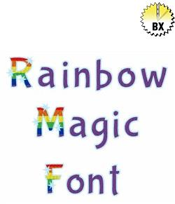 Rainbow Magic Font 1in embroidery font