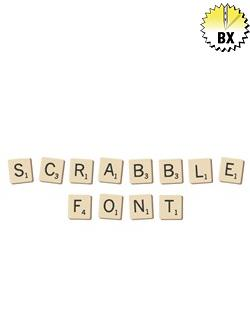 Scrabble Font 1in embroidery font