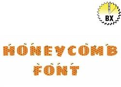 Honeycomb Font 1.75in embroidery font
