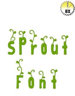 Sprout Font 2.25in embroidery font