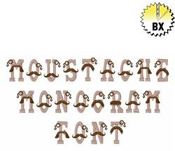 Moustache Monogram Font 1in embroidery font