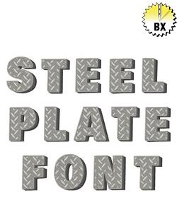Steel Plate Font 1.25in embroidery font