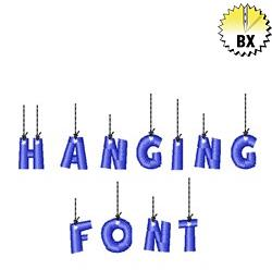 Hanging Font 0.75in embroidery font