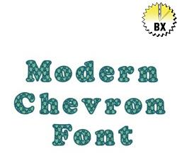 Modern Chevron Font 0.75in embroidery font