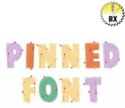 Pinned Font 1.25in embroidery font