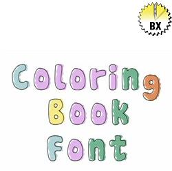 Coloring Book Font 1.5in embroidery font