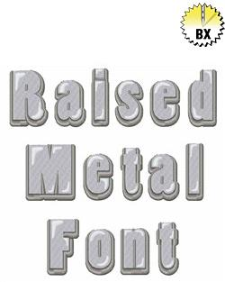 Raised Metal Font 1.25in embroidery font