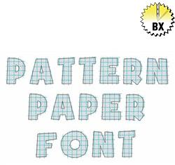 Pattern Paper Font 1in embroidery font