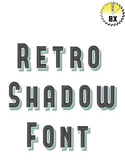 Retro Shadow Font 1in embroidery font