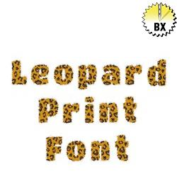 Leopard Print Font 1.75in embroidery font
