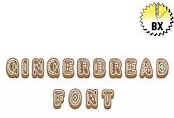 Gingerbread Font 1.25in embroidery font