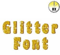 Glitter Font 1.25in embroidery font