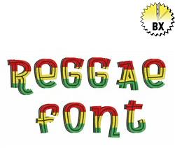 Reggae Font 1.25in embroidery font