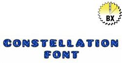 Constellation Font 1.5in embroidery font