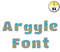 Argyle Font 1.25in embroidery font