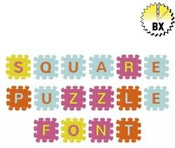Square Puzzle Font 1in embroidery font