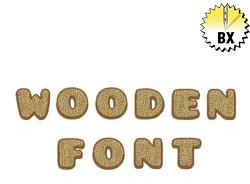 Wooden Font 1in embroidery font