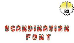 Scandinavian Font 1.75in embroidery font