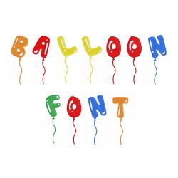 Balloon Font Embroidery Font Annthegran