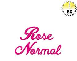 Rose Normal 1.25in embroidery font