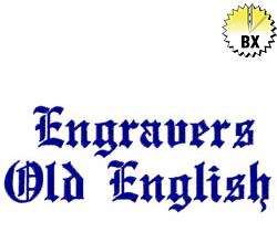Engravers Old English 1in Embroidery Font