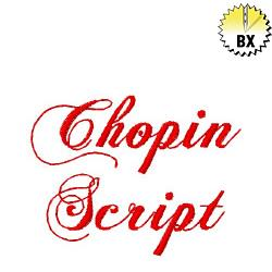 Chopin Script 1in embroidery font