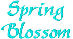 Spring Blossom embroidery font