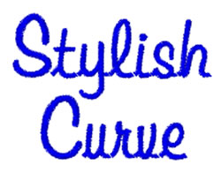 Stylish Curve embroidery font
