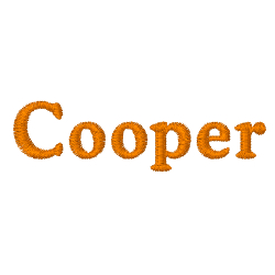 Cooper embroidery font