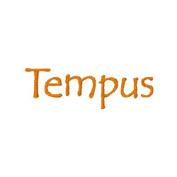 Tempus embroidery font