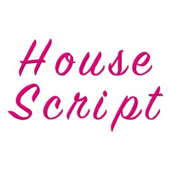 House Script Fonts embroidery font