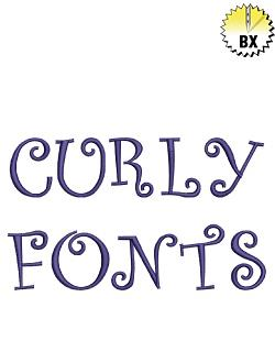 Curly Font 1.4in embroidery font