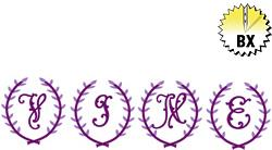 Crest Monogram 3in embroidery font