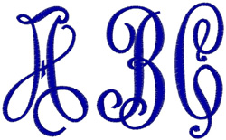 Big and Bold Monogram embroidery font