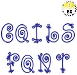 Coils Font 3.5in embroidery font