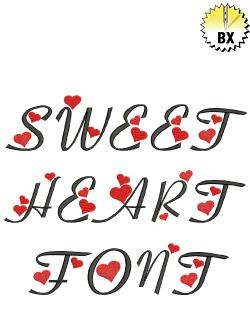 Sweetheart Font 2.5in embroidery font