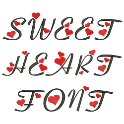 Sweetheart Font embroidery font