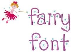 Fairy Alphabet embroidery font