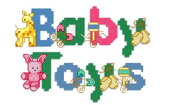 Baby Toys embroidery font