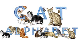 Cat Alphabet embroidery font