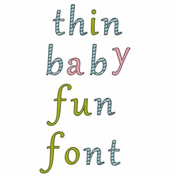 Thin Baby Fun embroidery font